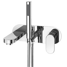 Elite Wall Mounted Bath Shower Mixer Tap + Shower Kit Medium Image