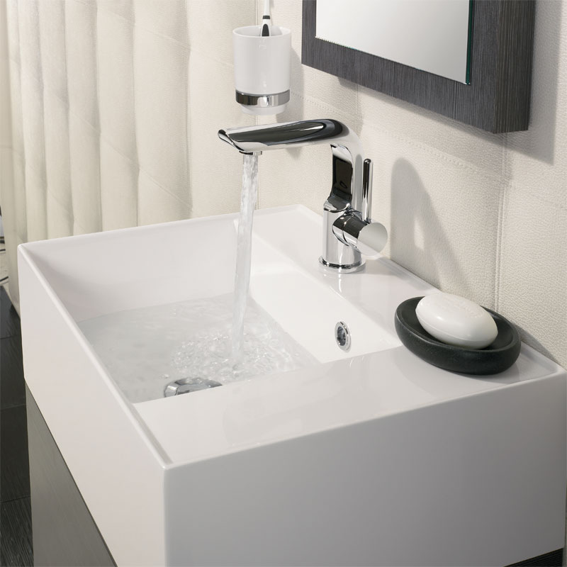 Bauhaus Elite Unit & Cast Mineral Marble Basin - Walnut profile large image view 4
