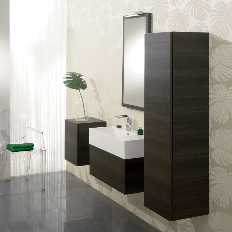 Bauhaus Elite Unit & Cast Mineral Marble Basin - Walnut profile large image view 3