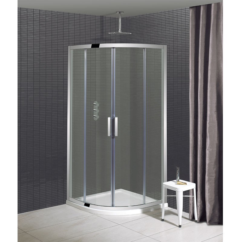 Simpsons - Elite Quadrant Double Door Shower Enclosure - 3 Size Options Large Image