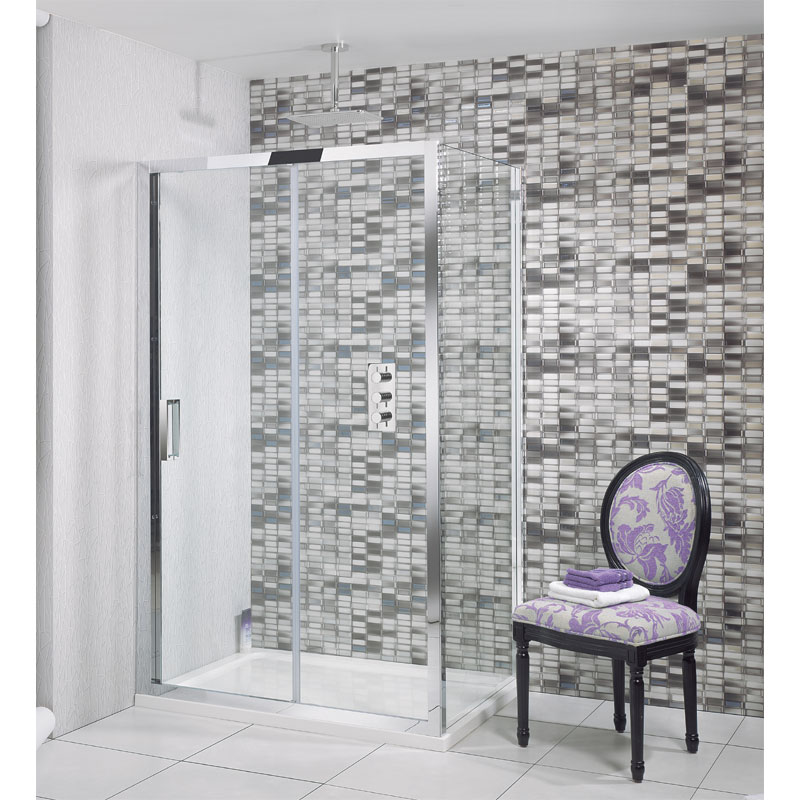 Simpsons - Elite Single Slider Shower Door - Various Size Options profile large image view 1