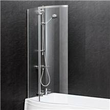 Ella 1400 Curved P-Bath Screen - ERCS0 Medium Image