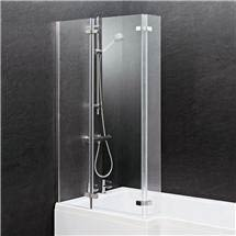 Ella 1400 Square Hinged Bath Screen - ERSBS0 Medium Image