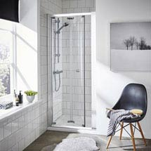 Ella Bi-Fold Folding Shower Door - Various Size Options Medium Image