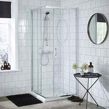 Ella Corner Entry Shower Enclosure - Various Size Options - Enclosure Only Medium Image