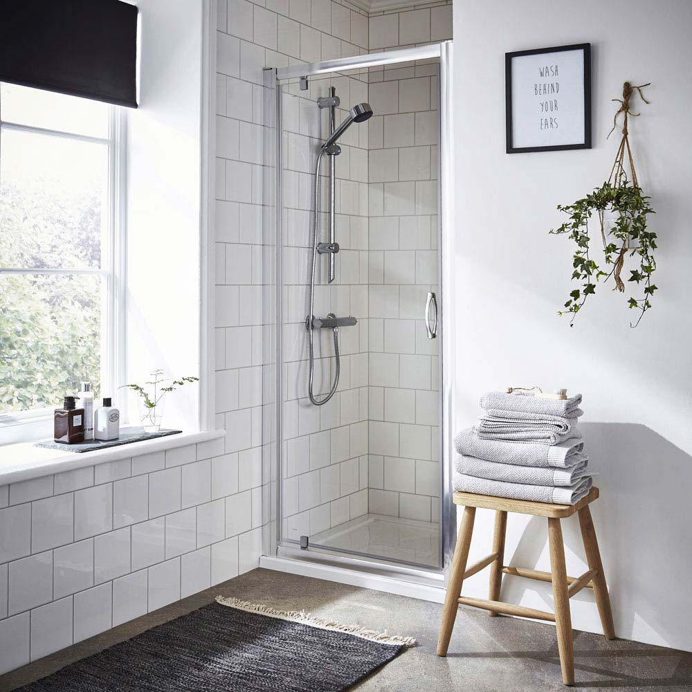 Ella Pivot Shower Door - Various Size Options Large Image