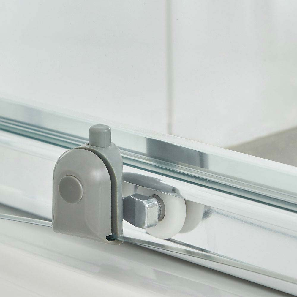 Ella Quadrant Shower Enclosure with Pearlstone Tray - 800 x 800mm - ERQ8-NTP105  Standard Large Image