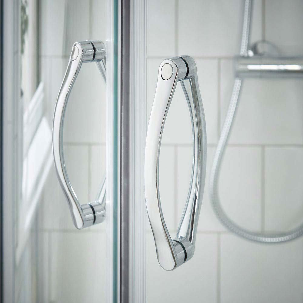 Ella Quadrant Shower Enclosure with Pearlstone Tray - 800 x 800mm - ERQ8-NTP105  In Bathroom Large Image