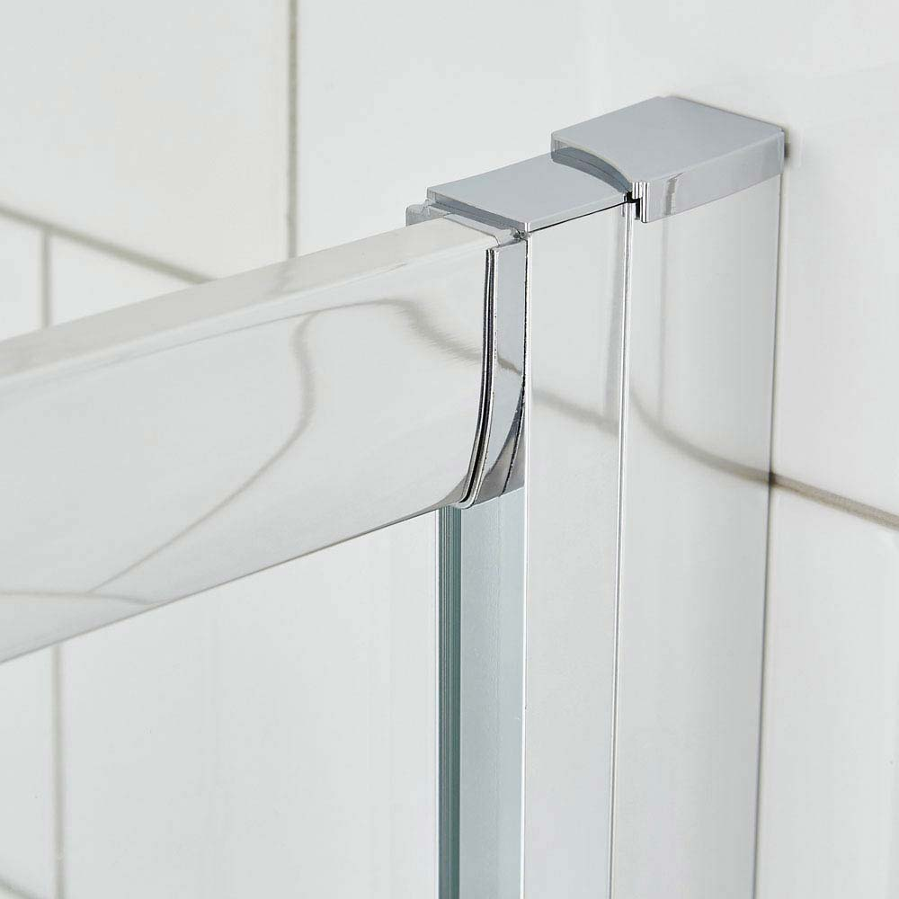 Ella Quadrant Shower Enclosure with Pearlstone Tray - 800 x 800mm - ERQ8-NTP105  additional Large Image