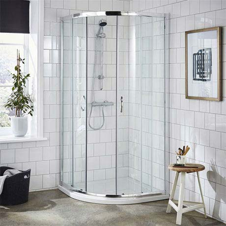 Ella Quadrant Shower Enclosure with Pearlstone Tray - 800 x 800mm - ERQ8-NTP105
