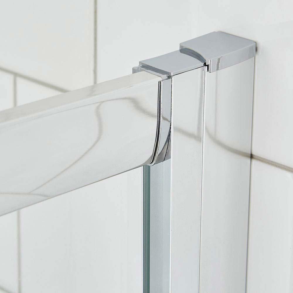 Ella Quadrant Shower Enclosure + Pearlstone Tray (900 x 900mm) profile large image view 2