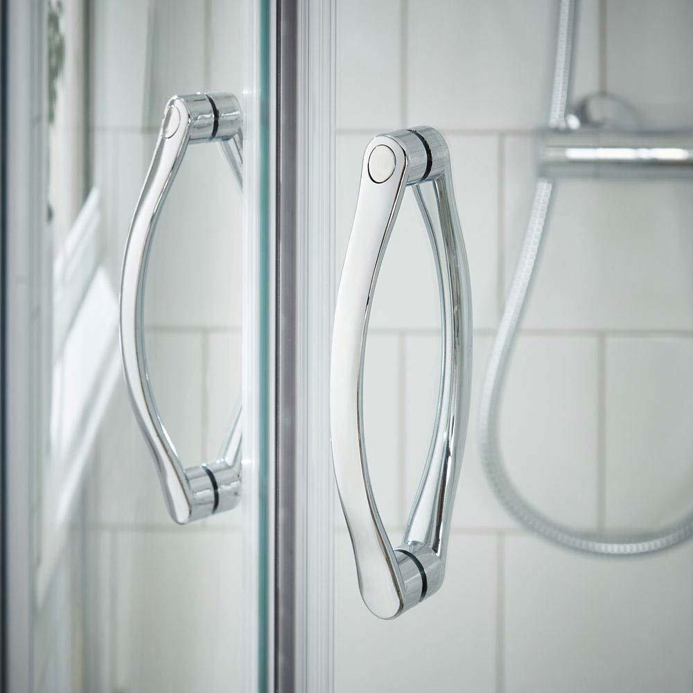 Ella Quadrant Shower Enclosure + Pearlstone Tray (900 x 900mm)  Standard Large Image
