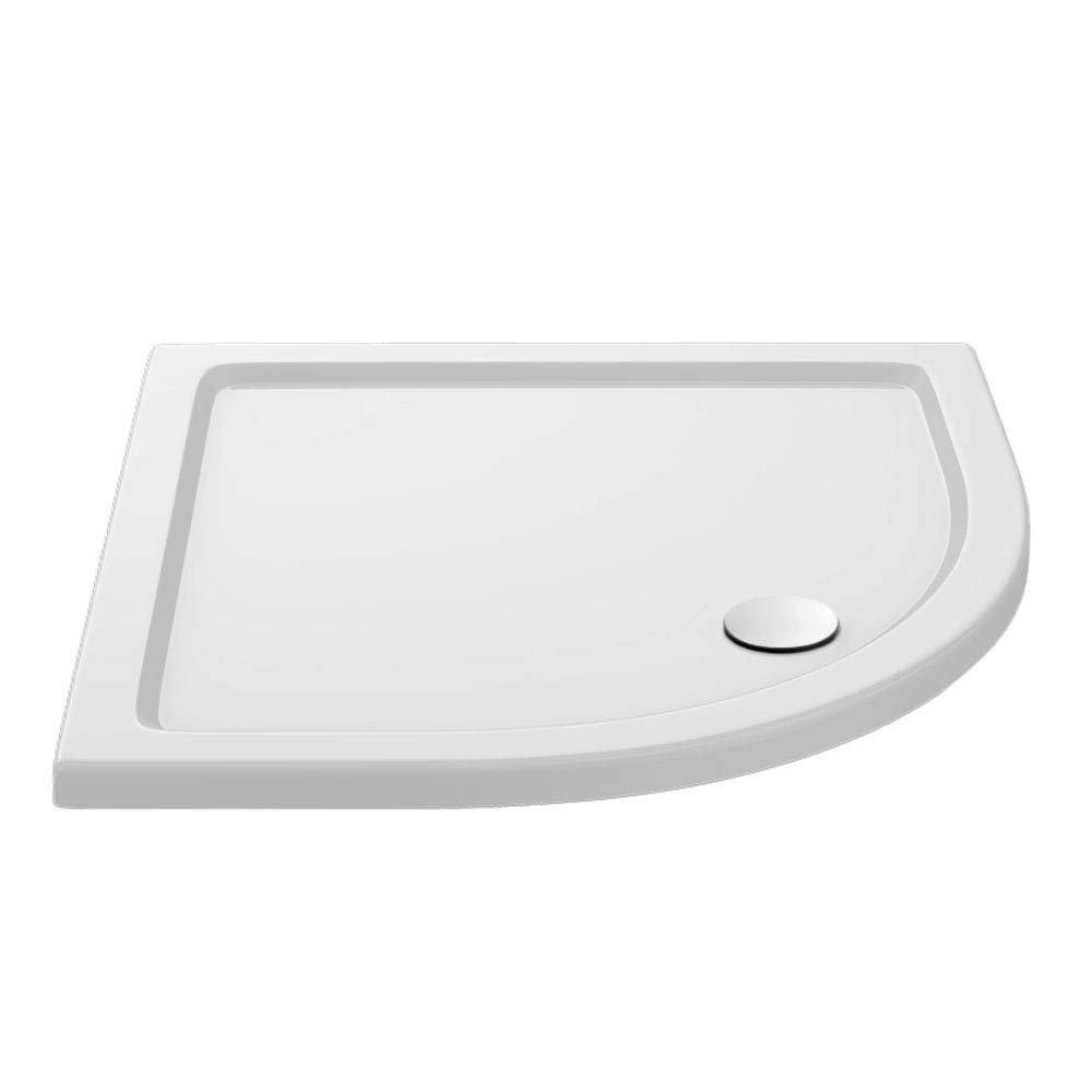 Ella Quadrant Shower Enclosure + Pearlstone Tray (900 x 900mm)  In Bathroom Large Image