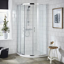 Ella Quadrant Shower Enclosure + Pearlstone Tray (900 x 900mm) Medium Image