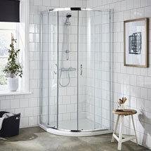 Ella Quadrant Shower Enclosure + Pearlstone Tray (900 x 900mm) Medium Image