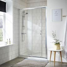 Ella Sliding Shower Door - Various Size Options Medium Image