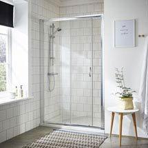 Ella Sliding Shower Door - Various Size Options Medium Image