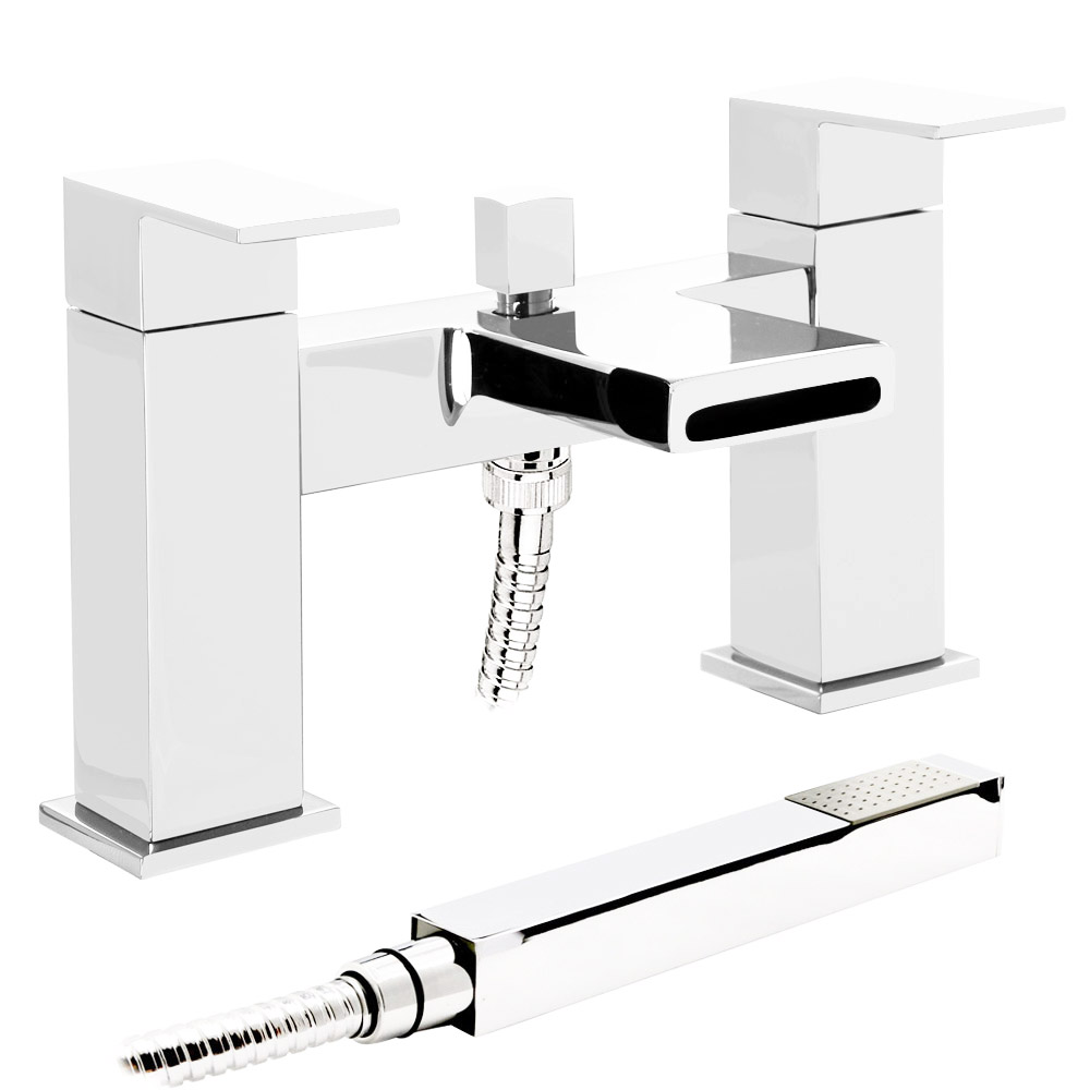 Empire Waterfall Bath Shower Mixer with Shower Kit Large Image
