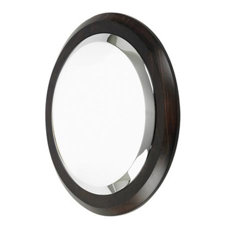 Endon Enluce Flush Round Wooden Rimmed Wall Light Ebony Now Online