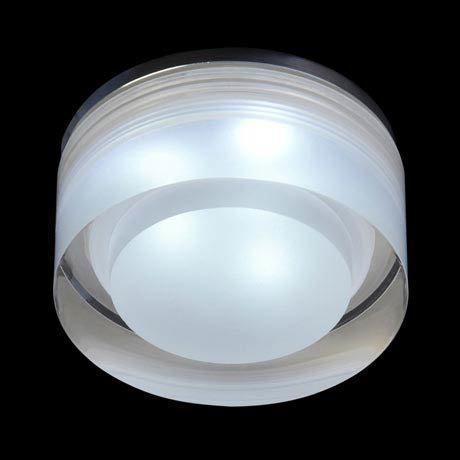 Endon Icen Modern Circular Clear LED Downlight - EL-IP-8000