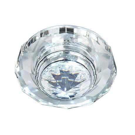 Endon Enluce Unique Recessed Downlight w/ Illuminated Crystal Detail - Cool White