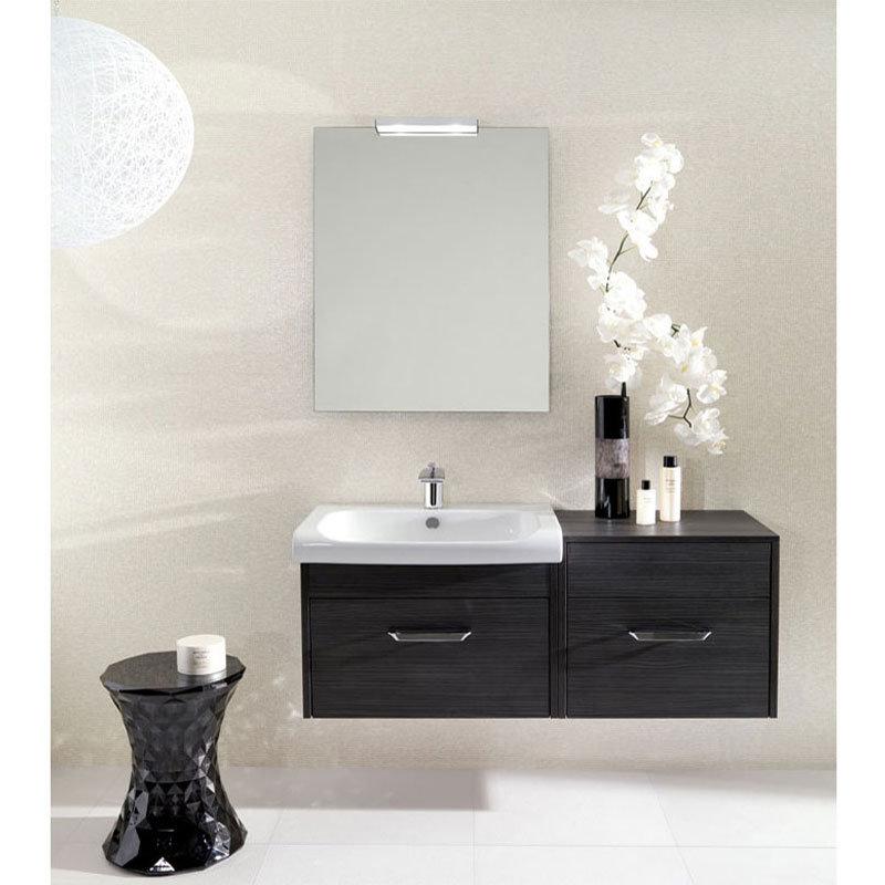 Bauhaus - Essence 50 Single Door Storage Unit - Ebony - ES5035FEB Feature Large Image