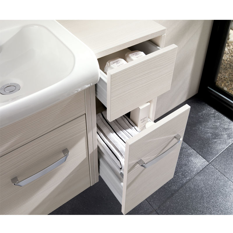 Bauhaus - Essence 30 Two Drawer Storage Unit - Ebony - ES3035DEB profile large image view 2