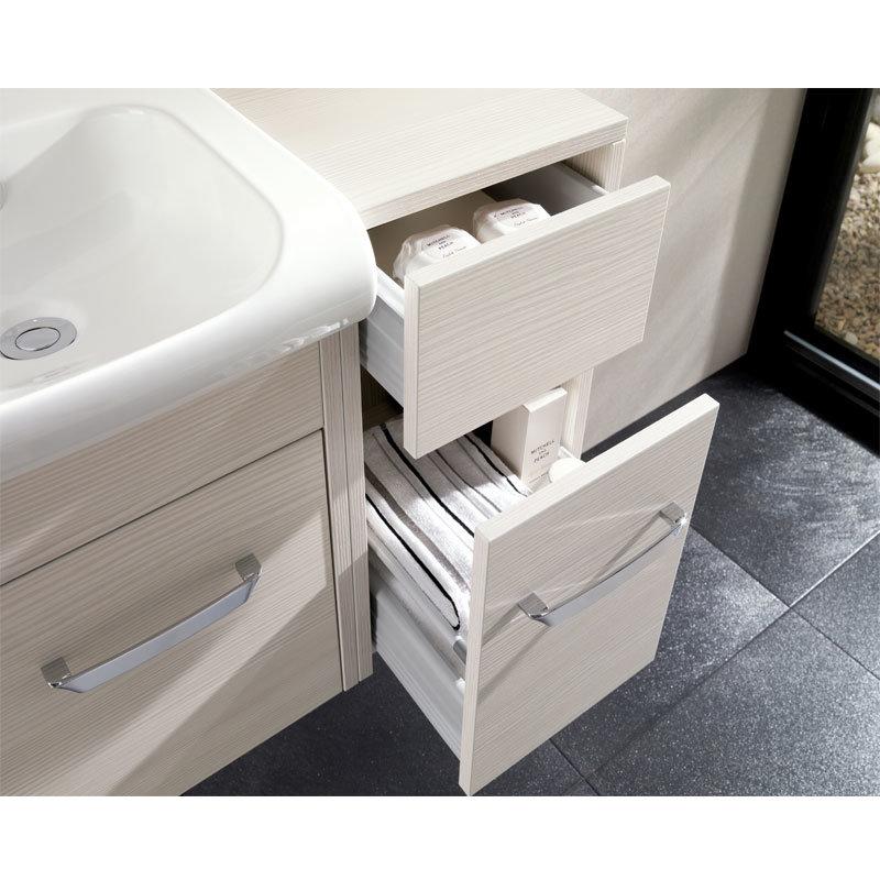 Bauhaus - Essence 50 Two Drawer Storage Unit - Glacier - ES5035DGL Feature Large Image