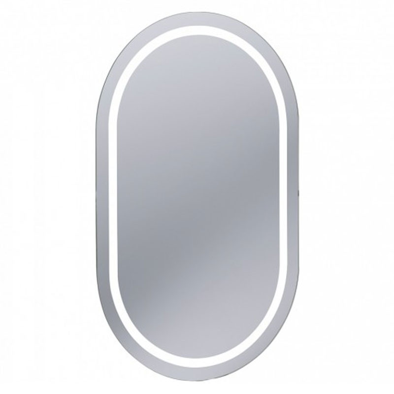 Bauhaus - Essence 50 LED Back Lit Mirror with Demister Pad - ME8050A Large Image