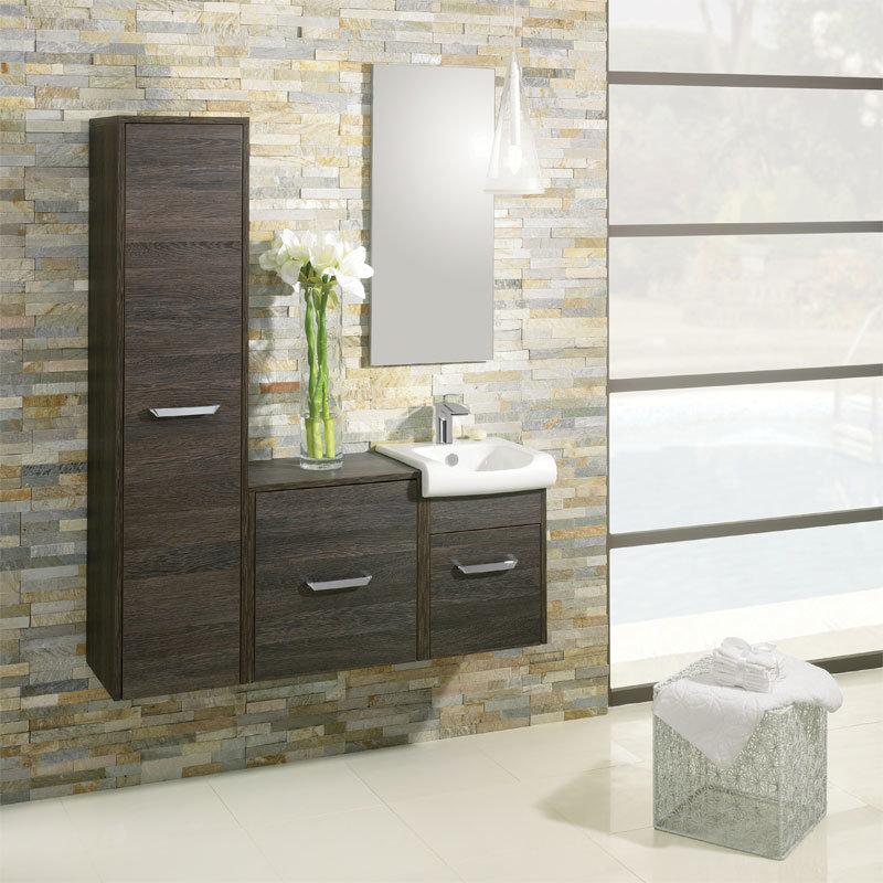 Bauhaus - Essence 50 Single Door Storage Unit - Ebony - ES5035FEB Profile Large Image