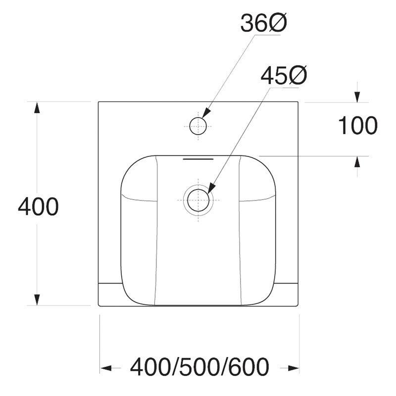 Bauhaus - Essence Unit & Basin - Glacier - 3 size options Standard Large Image