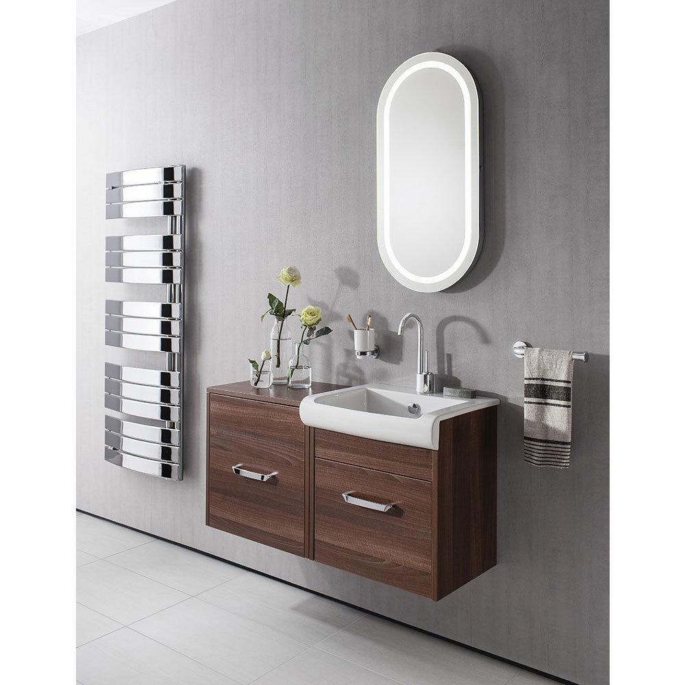 Bauhaus - Essence Unit & Basin - Walnut - 3 size options In Bathroom Large Image