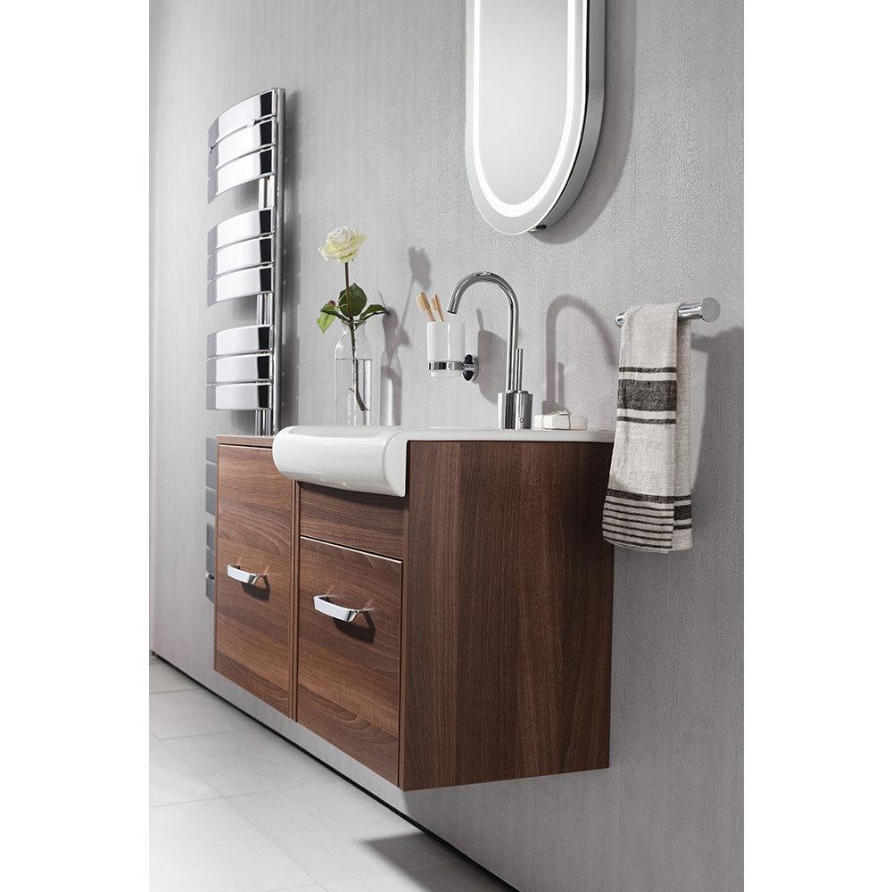 Bauhaus - Essence Unit & Basin - Walnut - 3 size options Feature Large Image