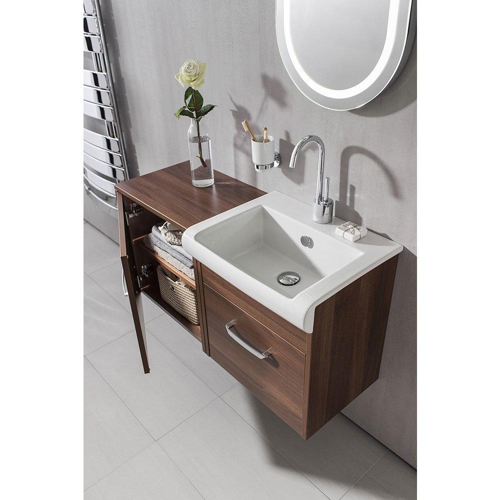 Bauhaus - Essence 50 Single Door Storage Unit - Walnut - ES5035FWT Feature Large Image