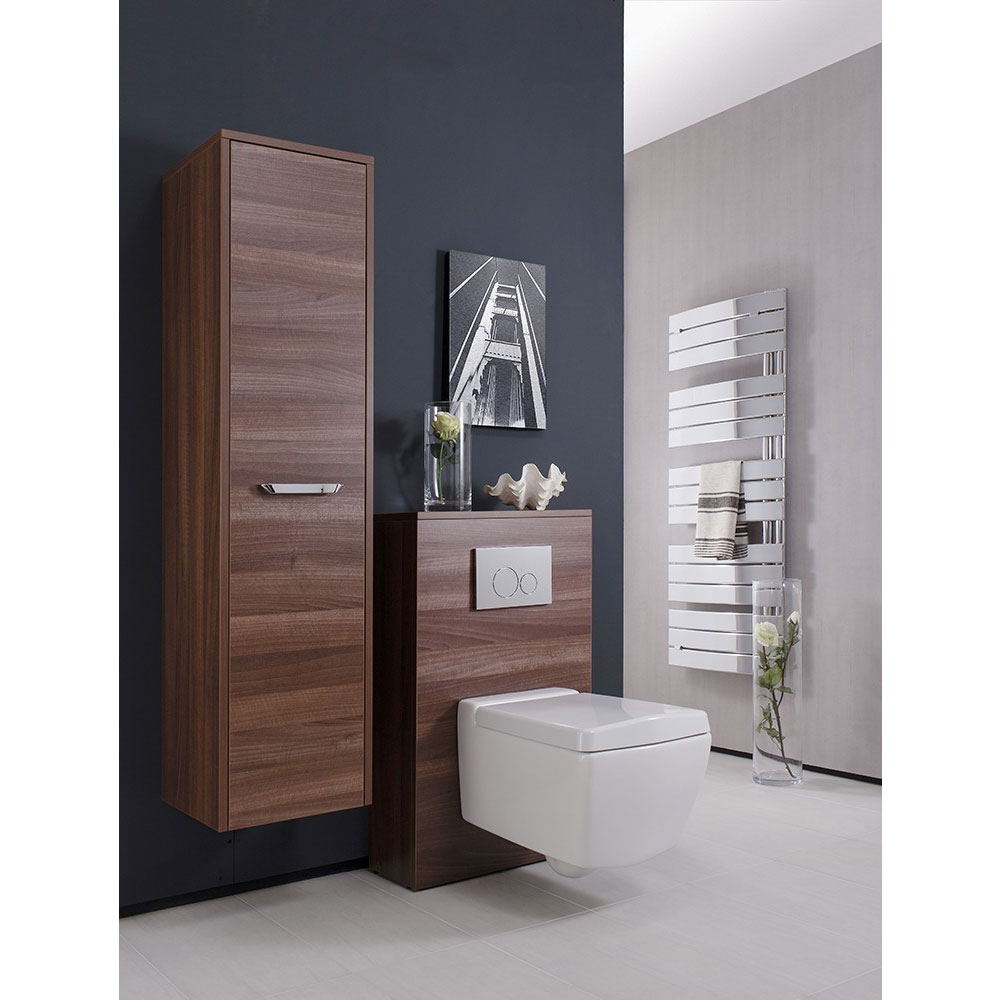 Bauhaus - Essence Tower Storage Unit - Walnut - ES3514FWT profile large image view 3