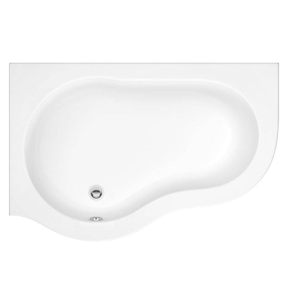Estuary Corner Shower Bath - 1500mm with Screen + Panel profile large image view 2