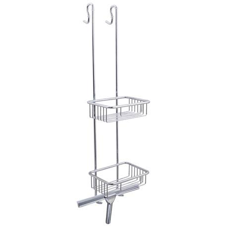 Euroshowers Chrome Shower Tidy with Squeegee