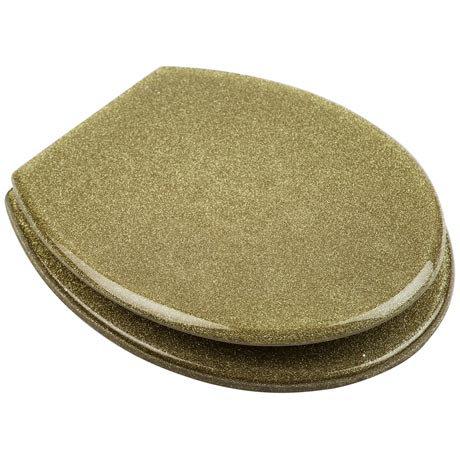 Euroshowers - Gold Glitter Toilet Seat - 81985