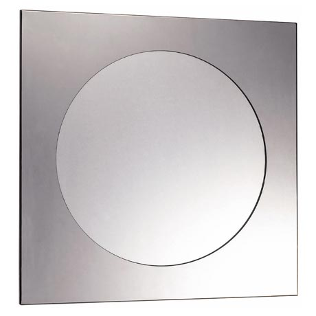 Euroshowers kvadrat stainless steel frame with round Stainless steel framed bathroom mirrors
