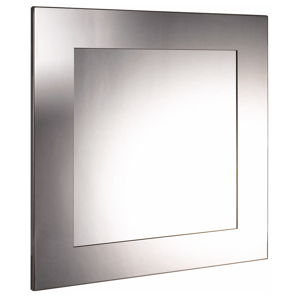 Euroshowers Kvadrat Stainless Steel Frame with Square Mirror - 570 x 570mm Large Image