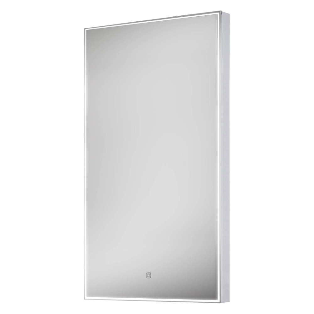 Euroshowers LED Rectangular Mirror with Demister - 400 x 800mm profile large image view 1