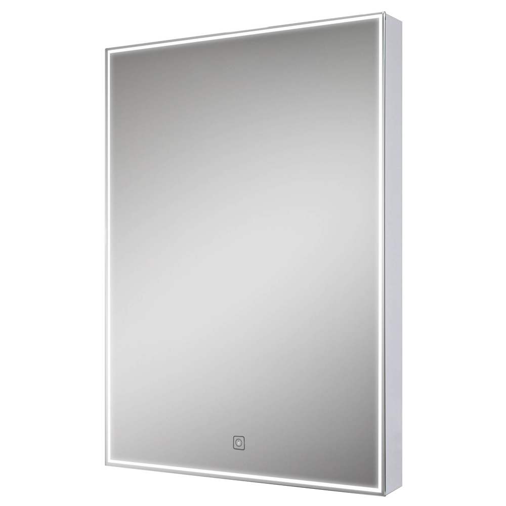 Euroshowers LED Rectangular Mirror with Demister - 500 x 700mm Large Image
