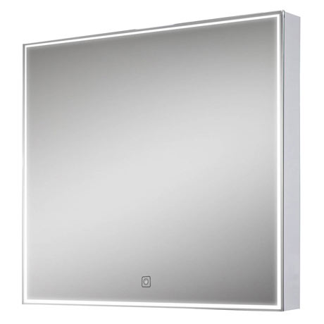 Euroshowers LED Square Mirror with Demister - 600 x 600mm