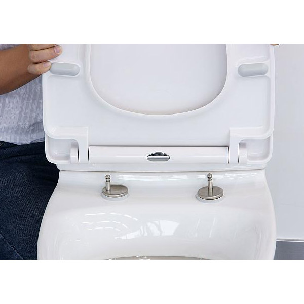 Euroshowers - ONE Seat Universal Soft Close Toilet Seat - White - 83311 Feature Large Image
