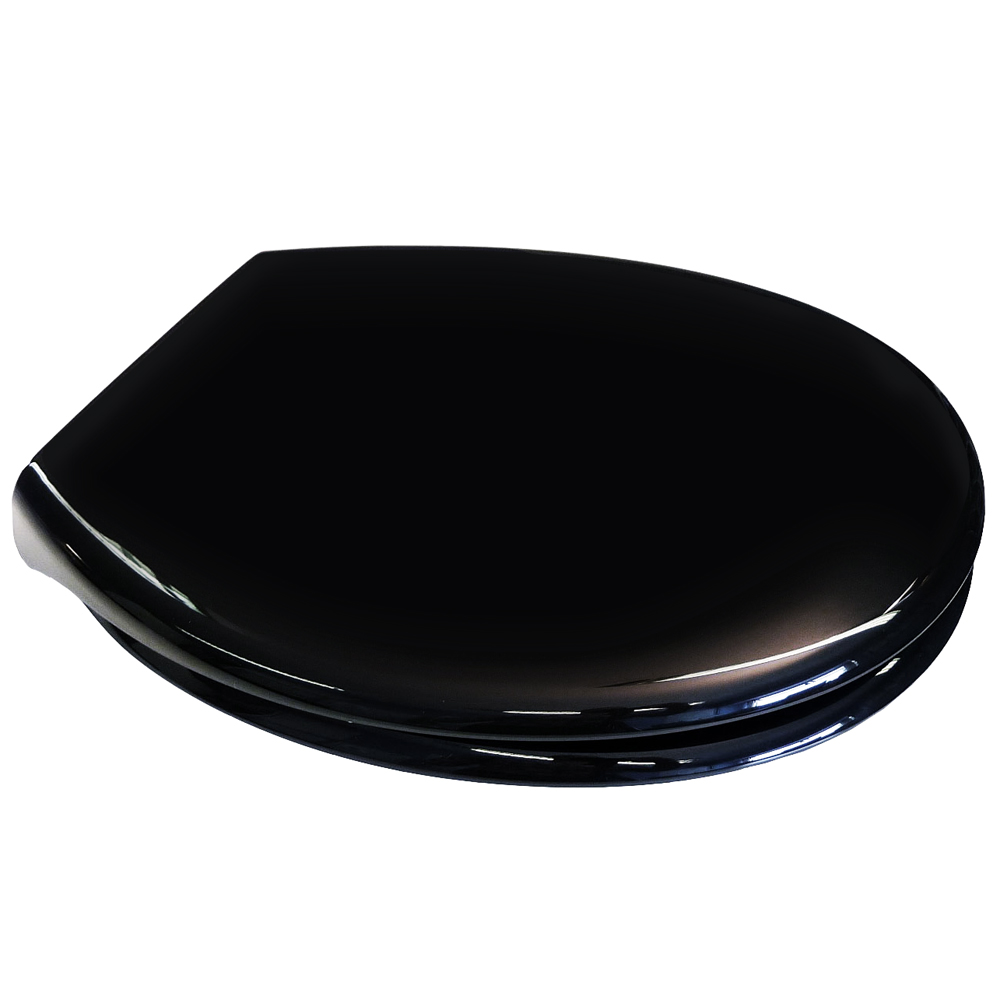 Euroshowers PP Opal Soft-Close Seat - Black - 83003 profile large image view 1