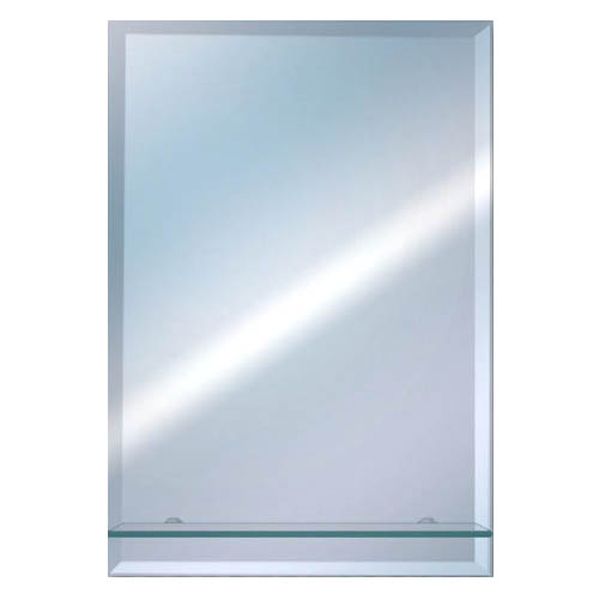 Euroshowers Rectangular Bevelled Mirror with Glass Shelf - TEM5040RS Large Image