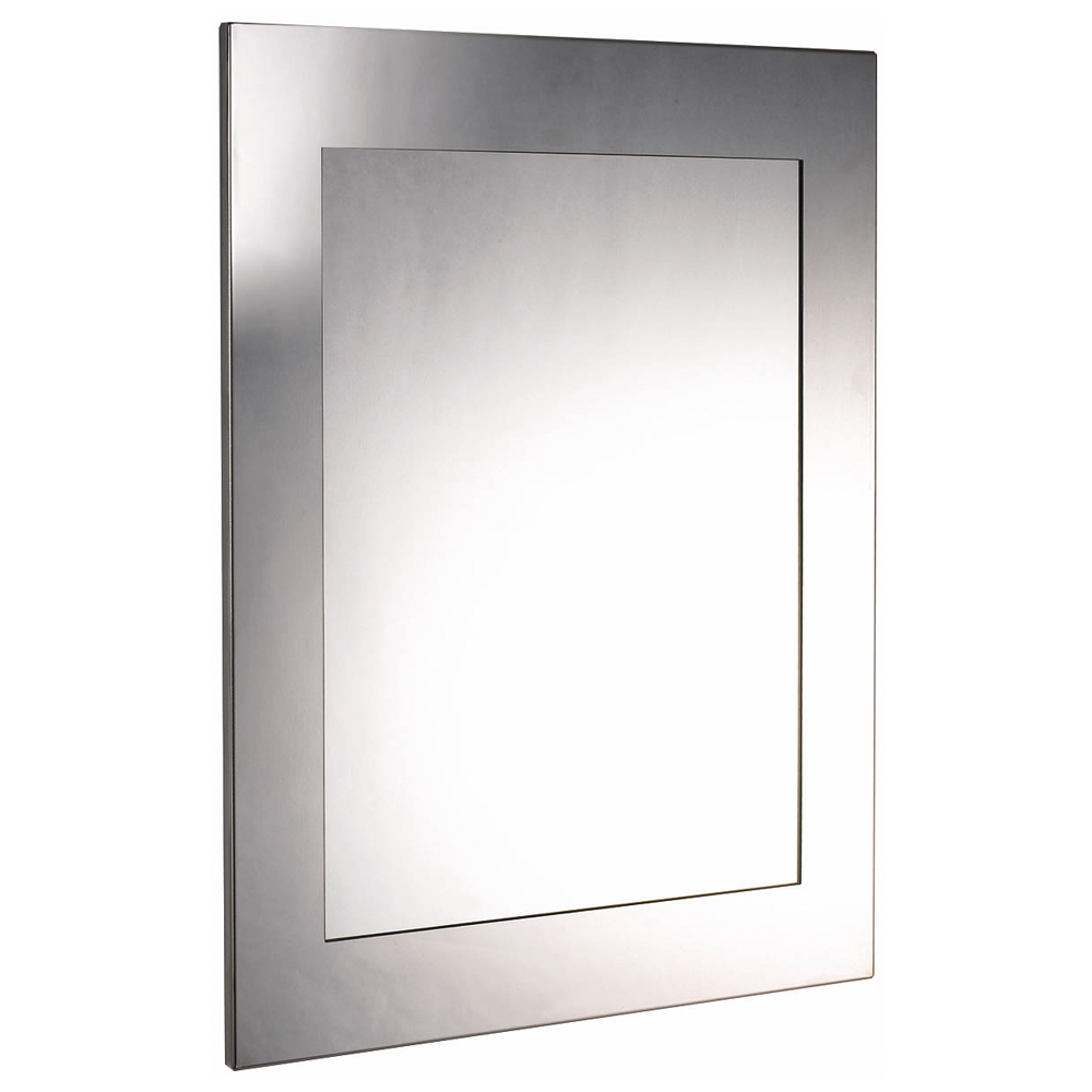 Euroshowers Rektangel Stainless Steel Frame with Rectangular Mirror - 470 x 670mm Large Image