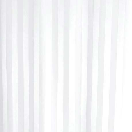 Extra Wide Satin Stripe Shower Curtain W2400 x H1800mm - White - 69113