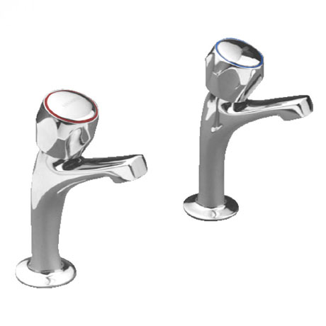 Franke F1083 Sink Pillar Taps with Fluted Handles