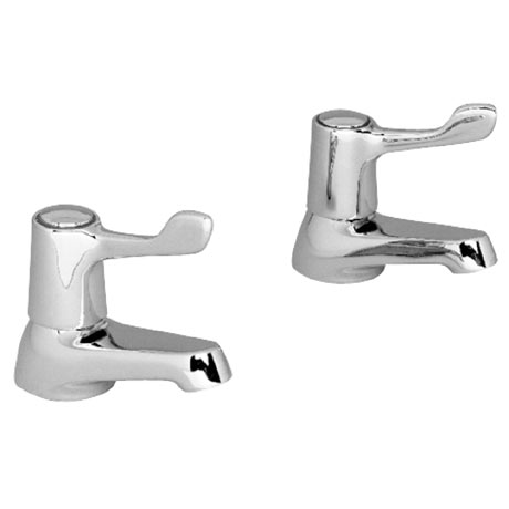 "Franke Optima Adriatic F1329 Basin Taps with 3"" Levers"